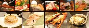 ディナーコース 特選活け魚介類の鉄板焼き